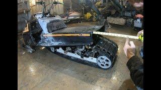 Snowmobile long track conversion