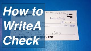 How to write a check and find routing number / check account number.