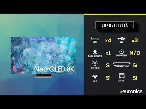 "SAMSUNGTV Neo QLED 8K 85"" QE85QN900A Smart TV Wi-Fi  2021Stainless Steel"