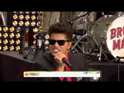 Bruno Mars on the Today Show - 'The Lazy Song'