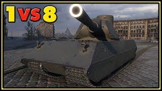 VK 100.01 (P) - 12 Kills - 1 VS 8 - World of Tanks Gameplay