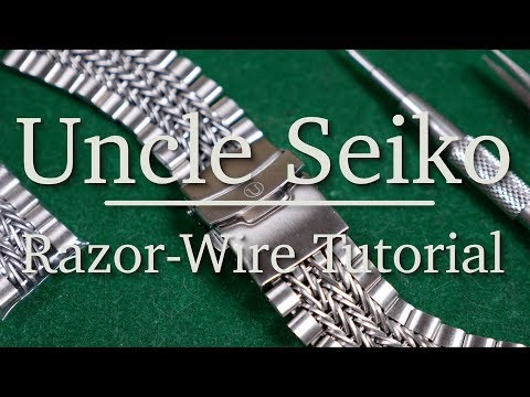Uncle Seiko Razor-Wire Tutorial – How To Perfectly Size Your Bracelet