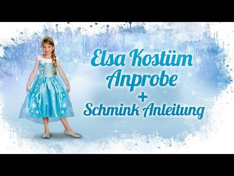 Elsa Kostüm Prestige Anprobe und Schmink Anleitung Die Eiskönigin Deutsch