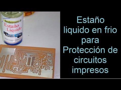 proteccion de circuitos impresos con estaño liquido