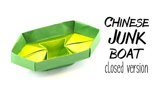 Origami Chinese Junk Boat Tutorial - Closed Version - Paper Kawaii