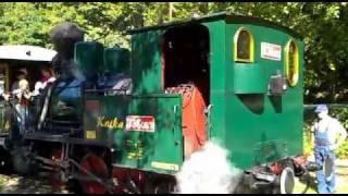 preview picture of video 'Detská železnica - Vypravenie a odchod vláčika zo stanice Alpinka (25.09.2011 o 12:10)'