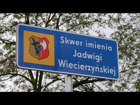 Wideo1: Otwarcie skweru im. Jadwigi Wiecierzyńskiej w Lesznie