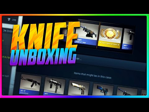 CS GO Case Opening - MY FIRST KNIFE UNBOXING, FINALLY! (CS GO Knife Unboxing Reaction!)