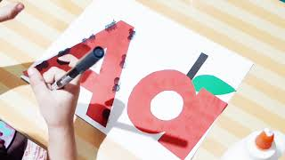 Alphabet Crafts (a For Ant And Apple) #alphabet #crafts