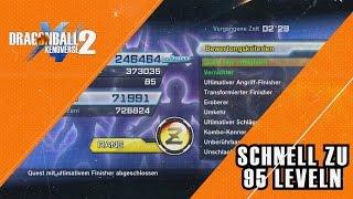 Schnell Leveln zu Level 95 - DragonBall Xenoverse 2