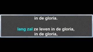 Lang Zal Ze Leven, instrumentaal met karaoke tekst