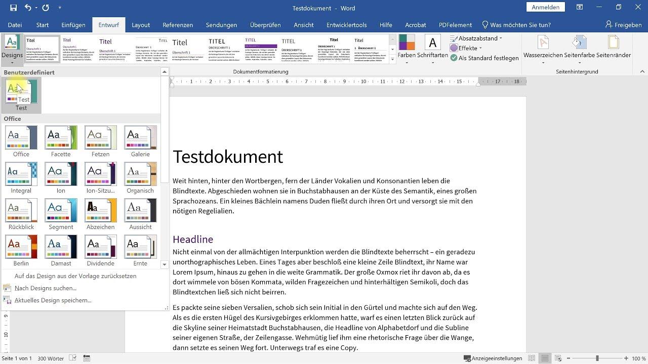 Individuelle Designs in Word, Excel und PowerPoint – Office-Tutorial
