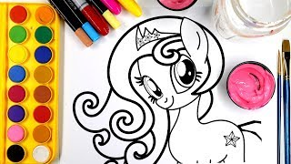 Coloring Princess Polaris Pony Colouring Pages For Children Learn To Color With Markers And Paint