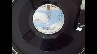 B. A.  Robertson - To Be Or Not To Be No.9 Last Week May 1980 UK