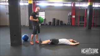 FROMBall Medizinball Situp Tutorial   HEARTCORE Athletics