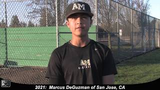 2021 Marcus DeGuzman Catcher and Second Base Baseball Skills Video