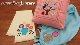 Machine Embroidery Applique, Multiple Fabric Pieces