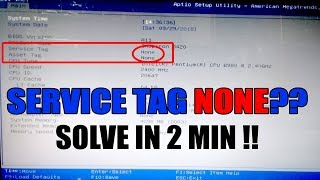 No Service Tag found in BIOS - how to fix service tag blank