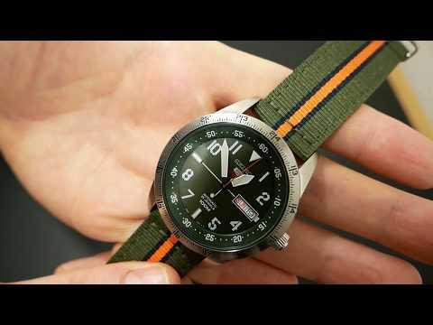 Seiko 5 Sports SRP515K1   Armbanduhr mit Seiko 4R36A Automatik Uhrwerk   Fieldwatch Clock Day Date