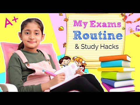 My EXAMS STUDY Routine - STUDENT HACKS | #Tips #Sketch #MyMissAnand