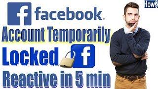 How to Unlock Facebook Account temporarily Locked urdu hindi tutorial