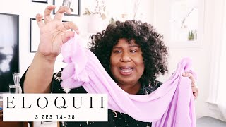 ELOQUII TRY ON HAUL   HOW I STYLE TRENDY PLUS SIZE CLOTHES