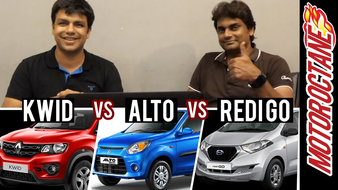 Motoroctane Youtube Video - Maruti Alto vs Renault Kwid vs Datsun RediGo - Detailed Discussion