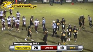 Prairie Grove (40) vs Lincoln (17) 2013