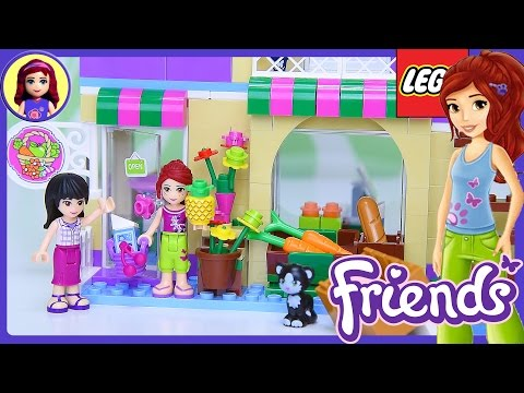 Lego Friends Heartlake Food Market Build Review Silly Play Kids