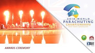 Awards Ceremony – 2018 World Parachuting Championships, Australia