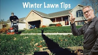 Fall Lawn Fertilizer // WINTERIZER and Late Fall Lawn Tips // ALL GRASS TYPES // Thrower' Down