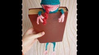 Веселая закладка-лягушка