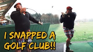 WORLDS STRONGEST MAN HITS LONGEST DRIVE?!