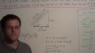 How To Find The Missing Side Of A Right Triangle (using Sin Cos Tan)