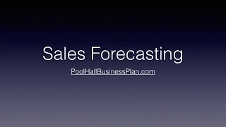 PHBP Sales Forecast Tutorial