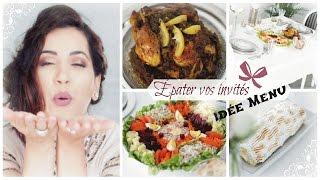 Repas pour les invités | Salade Composée, Poulet Be Daghmira, Roulé à la mangue, Flan Libanais