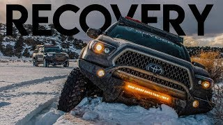 We made it! Recovering 3 Tacomas On Snow Trail | Sedro Woolley, Washington + Pre Runner Walkaround""