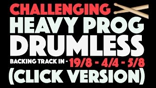 Prog Metal Drumless Backing Track In Multiple Time Signatures Click Track Version