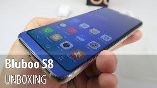 Bluboo S8 Unboxing în Limba Română (Clonă Galaxy S8 cu design interesant)