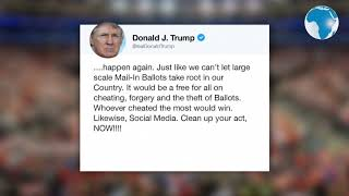 Trump threatens to 'close down' social  media after tweets tagged