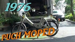 MOPED 1976 PUCH first start 31 years, cold