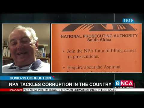 NPA tackles corruption in the country COVID 19 Corruption