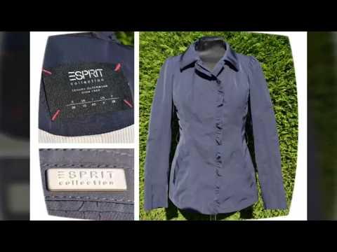 ESPRIT Collection Blau Größe 36 Jacke Blazer Blousson Damen Damenjacke wie NEU