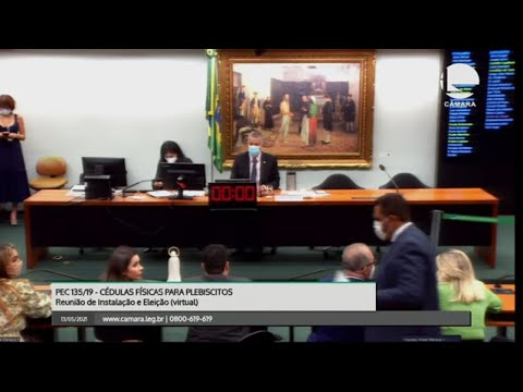 Cédulas físicas para plebiscitos - Instalação e eleição do presidente e vices - 13/05/21