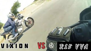 r15 vs vixion r drag - TH-Clip