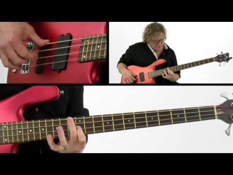Solo Bass Guitar Lesson - #1 A Bit of Blues - Stu Hamm