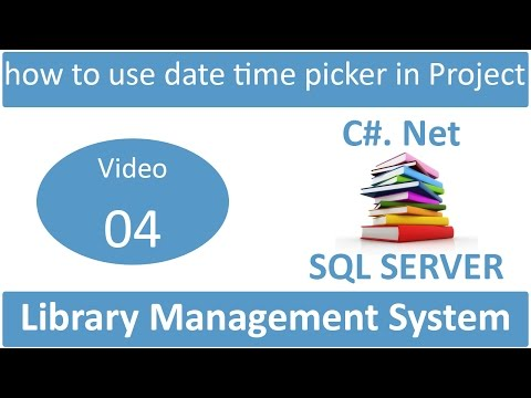 how to use date time picker in library management system