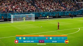 Penalty Shootout – Switzerland vs Spain – UEFA Euro 2021 | eFootball PES 2021
