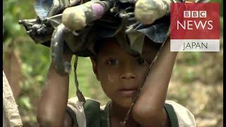 安全求めてジャングル進むミャンマー・ロヒンギャ難民