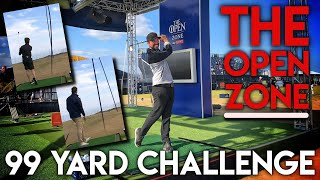 HOW COOL IS THIS! Open Zone 99 Yard Challenge with Nick Dougherty and Seb on Golf